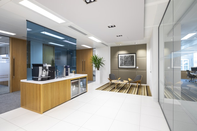 serviced offices mayfair - kitchen area